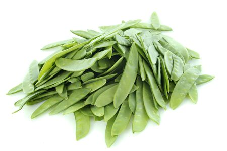 snow peas in front of white background Stock Photo - 17841208
