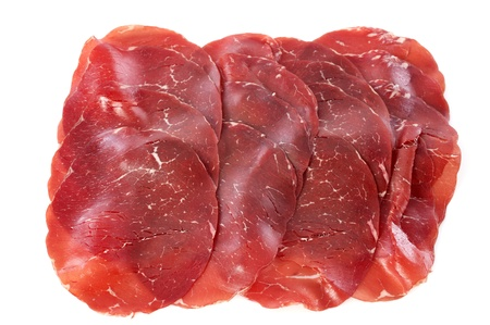 Viande des Grisons in front of white background Stock Photo - 18119393