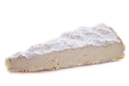 brie cheese in front of white background Stock Photo - 18119347
