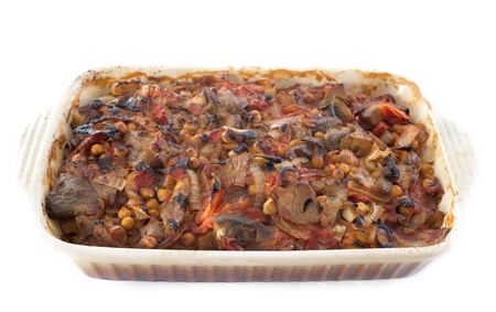 lebanese moussaka in front of white background Stock Photo - 20752179