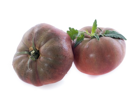 Black Krim tomato in front of white background Stock Photo - 20752193