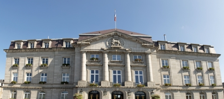 city hall of Gueret, prefecture of La creuse department Stock Photo - 20923317