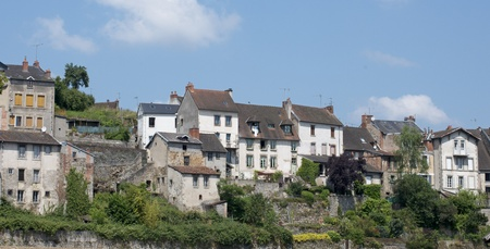 houses of Aubusson in the Creuse, Limousin, France Stock Photo - 20923326