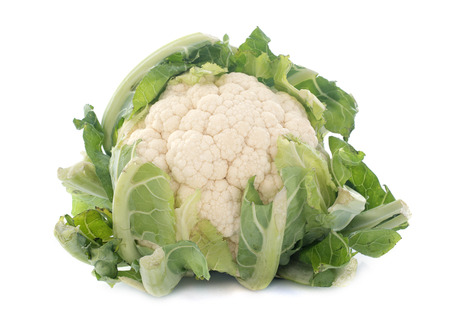 raw cauliflower in front of white background Stock Photo - 23422165