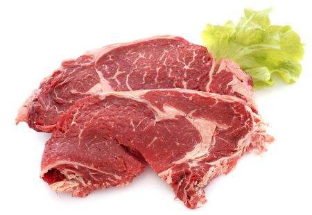 entrecote steak in front of white background Stock Photo - 23422168