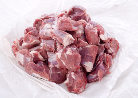 piece of lamb meat in a paper Stock Photo - 23422192
