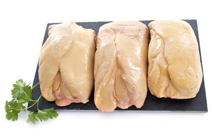 foie gras in front of white background