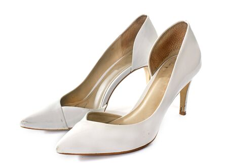 court shoes: court shoes in front of white background