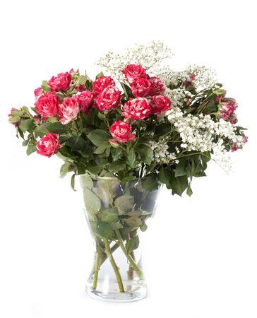 bouquet de fleurs: Bouquet de fleurs devant un fond blanc Banque d'images