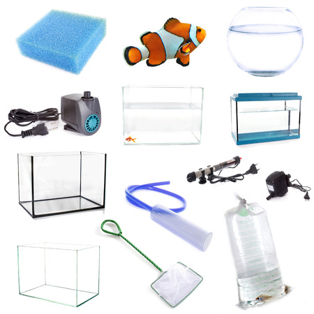 aspirator: aquarium equipment in front of white background