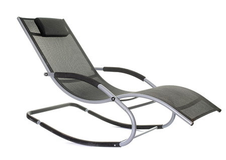 rocking chair: rocking chair in front of white background Stock Photo