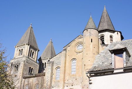 Abbey Church of Saint Foy, conques, in France