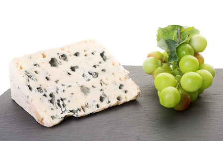 roquefort cheese in front of white background