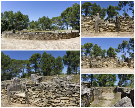 megalithic site of Saint Eugene, Laure Minervois, France, Europe 写真素材