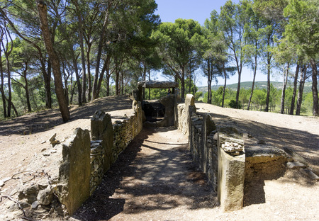 dolmen des fades, megalithic dolmen in Pepieux, Aude, France