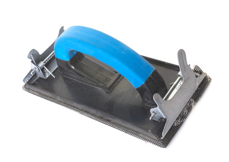 hand sander in front of white background