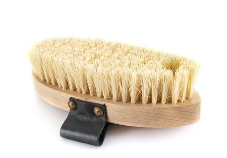 brush for horse in front of white background