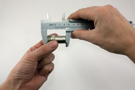 trammel: Gauging the size of the details. The main accuracy