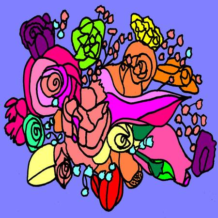 This is an illustration of a bouquet of flowers.