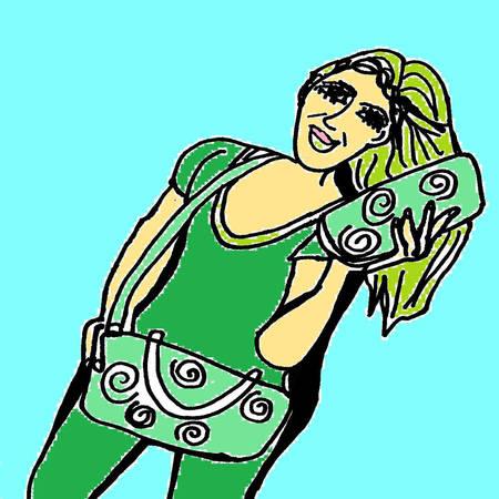 st  patrick's day: St  Patrick s Day girl in green Illustration