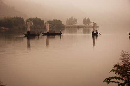 ou: On the Ou Jiang River Stock Photo