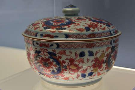 receptacle: Porcelain bowl