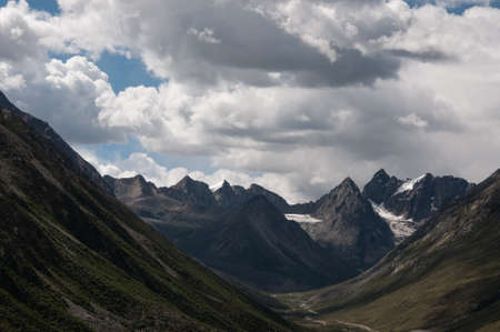 cloud capped: Zangnan scenery Stock Photo