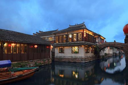 zhouzhuang: Zhouzhuang at night Editorial