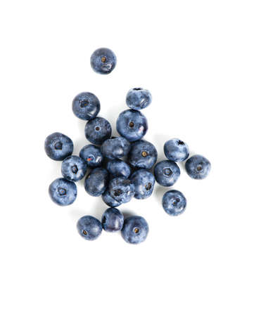 sweet blueberries isolated on white background