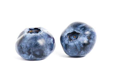 sweet blueberries isolated on white background photo