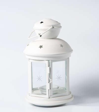 pastiche: White decorative lantern in the old style Stock Photo