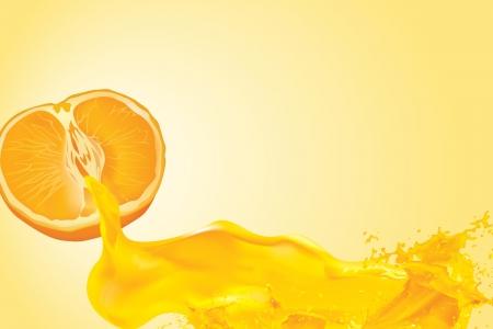 tropicana: orange juice illustration