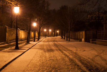 alley in winter photo