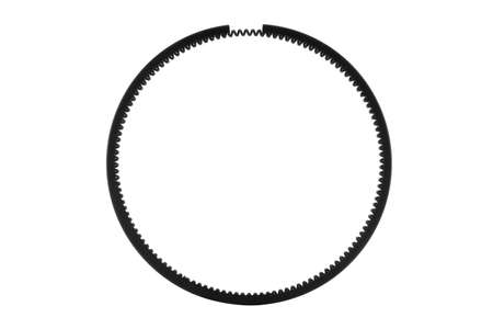 Engine piston ring isolated on the white background