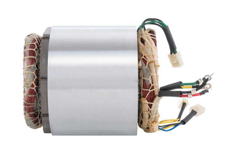 Power generator stator isolated on the white background Standard-Bild