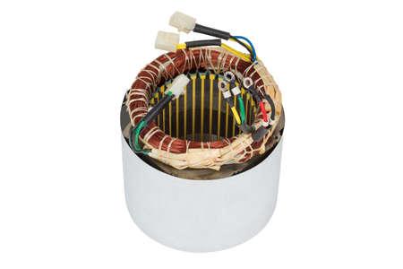 Stator Stromerzeuger isoliert auf weißem Hintergrund Standard-Bild - 74355530