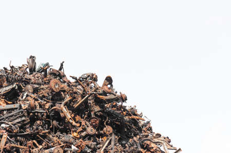 Scrap metal isolated on the white background Banco de Imagens