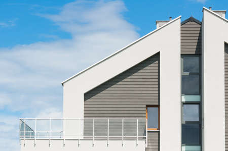 New modern architectural building house Standard-Bild