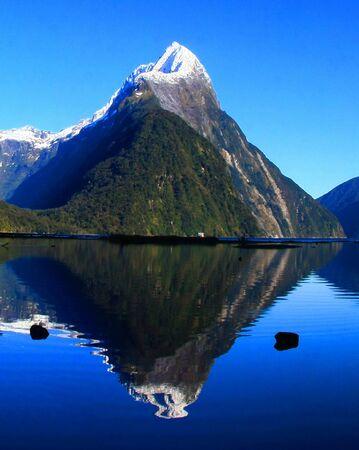 milford: New Zealand Milford Sound Stock Photo