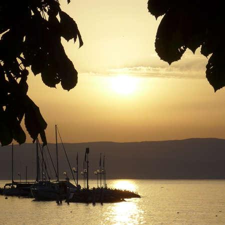 leman: sunset on the lake Leman