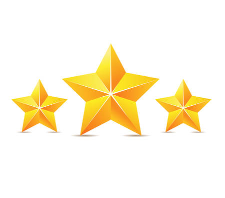Vector golden stars Vettoriali