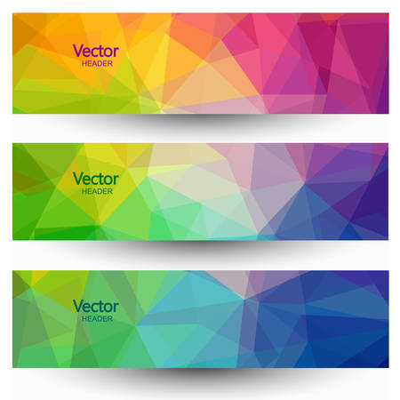 Abstract geometric banners set