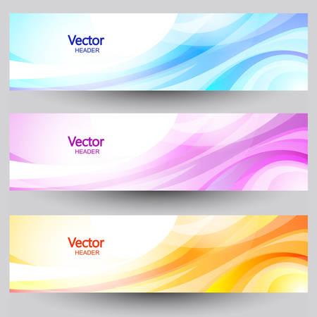 Website header or banner set. Vettoriali
