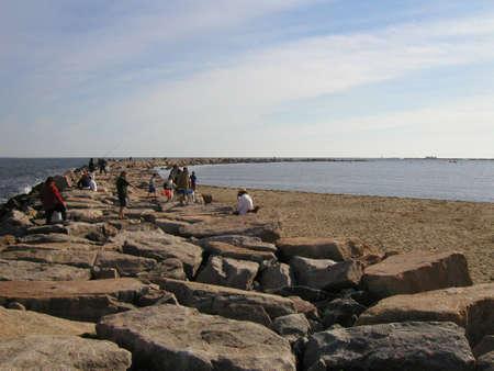 breakwater: Point Judith Breakwater  Stock Photo