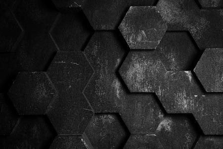 黒い六角形背景テクスチャ