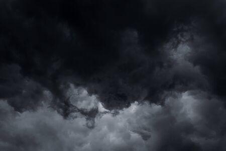 nimbus: Stormy rain clouds background. Dark sky Stock Photo