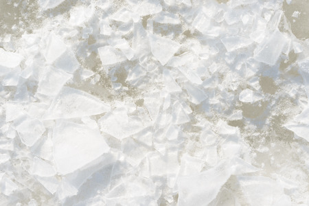 ice pieces and snow background texture blue