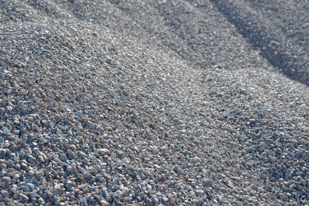 Breakstone background. Road gravel. Gravel texture. Crushed Gravel background. Piles of limestone rocks. Break stones on construction site. Imagens - 109287168