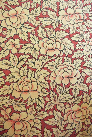 Painting of Lotus on temple wall Stock Photo - 8171712