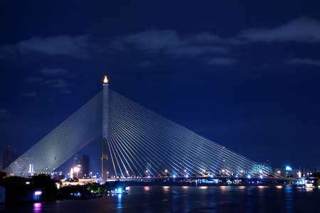 viii: Rama VIII Bridge, Suspension bridge in Bangkok, ThailandEigt
